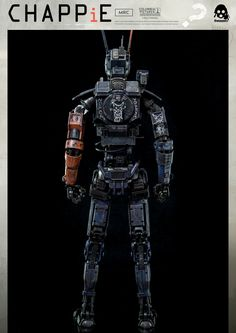 1/6th scale Chappie collectible available for pre-order on March 16th 9:00AM Hong Kong time at www.threezerostore.com for 230 USD / 1780 HKD with International Shipping included. An exclusive, alternative paint variation of Chappie with additional accessories (rings and chain with $ sign), will also be available at www.threezerostore.com More info: www.facebook.com/threezerohk #threezero #Chappie #ChappieMovie #Neillblomkamp #toys #toy #actionfigure #collectible #collectibles #onesixthscale