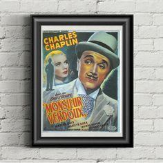Movie Prints, Poster Prints, Vintage Prints, Vintage Art, Charlie Chaplin Movies, Comedy Films, Vintage Movies, Old Hollywood, 1930s
