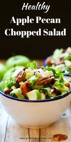 Easy Healthy Apple Pecan Chopped Salad is a perfect, light, family-friendly, nutritious, one-dish meal! It's also delicious and only takes minutes to prepare.