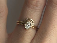 Oval Diamond Ring Oval Engagement Ring Oval Diamond by MinimalVS