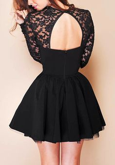 Sexy Keyhole Lace Dress