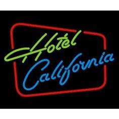 NEONSKYLT HOTEL CALIFORNIA