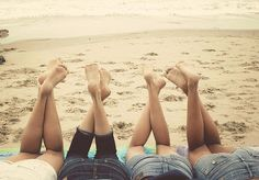 catching up, imagining, and dreaming on the beach with forever sister friends