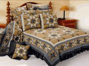 Black Feathered Star Country Quilt Bedding Country Bedding, Country Quilts, Black Feathers, Quilt Bedding, Star, Furniture, Home Decor, Duvet Bedding, Decoration Home