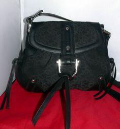 DKNY DONNA Karen New York Shoulder Crossbody Messenger Bag Purse Black Logo #DonnaKaranNewYork #MessengerCrossBody