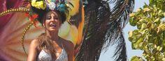 Amparo Grisales erizó con sus curvas en el Carnaval de Barranquilla 2012.