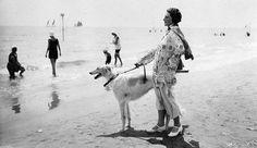 The height of fashion on Lido di Venezia beach. Venice, Italy. 1920s.