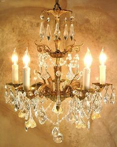 29 best chandeliers vintage crystal and brass images on pinterest chandeliers mozeypictures Gallery