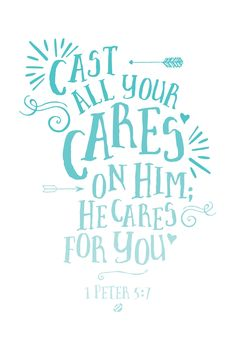 #LostBumblebee ©2014 Cast Your Cares 1 Peter 5:7 #FREE PRINTABLE- personal use only  I LOVE THIS ONE!