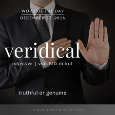 veridical. #merriamwebster #dictionary #language
