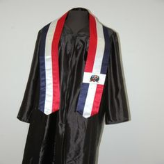 Graduate in style with our long Dominican Republic flag international or study abroad sash. Dominican Republic flag sewn into fully lined satin fabric. Jeep Range, Graduation Cap Designs, Graduation Ideas, Dominican Republic Flag, Balloons And More, Satin Fabric, Sash, Cap Ideas, How To Wear
