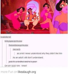 Of all the things in Disney movies to freak out about, no one ever really points this out.