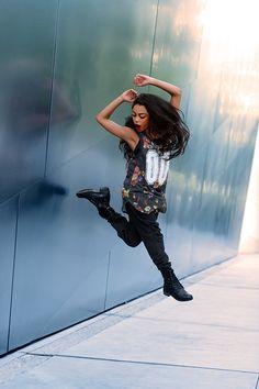 Hip hop diva Kaelynn Harris at our photo shoot at the Walt Disney Concert Hall!