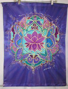 lotus mandala art lotus art silk wall hanging silk
