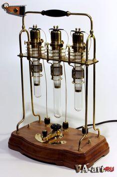 Lámpara de mesa de Steampunk