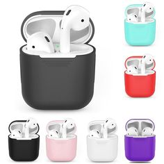 Iphone cases Iphone Cases TPU Silicone Bluetooth Wireless Earphone Case For AirPods Protective Cover Skin Accessories For Apple Air Pods Charging Box Earphone Case, Silicone Phone Case, Iphone 8 Plus, Radios, Apple Iphone, Bluetooth Wireless Earphones, Bluetooth Gadgets, Headphones Earbuds, Phone Gadgets
