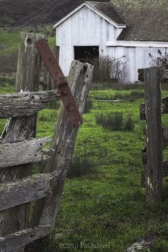 Weathered Fence and Barn