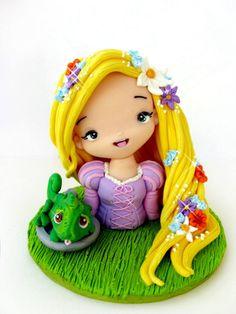 deviantart  rapunzel | Rapunzel clay by tanadelbianconiglio