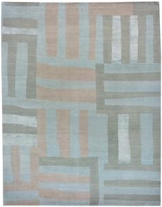 Stripes  Aqua #1 {rugs, carpets, modern, home collection, decor, residential, commercial, hospitality, warp & weft}