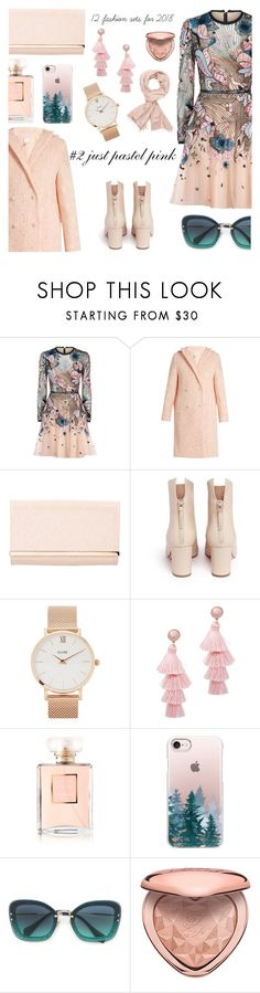 """just pastel pink"" by freshprincesse ❤ liked on Polyvore featuring Elie Saab, HUISHAN ZHANG, Louis Vuitton, Francesco Russo, CLUSE, BaubleBar, Chanel, Casetify, Miu Miu and Too Faced Cosmetics"