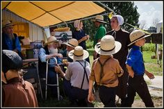 All ages attend the Amish auction near Sturgeon Missouri.~ Sarah's Country Kitchen ~