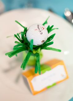 Golf Themed Baby Shower Place Settings