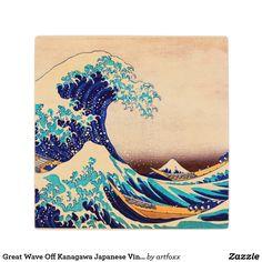 Great Wave Off Kanagawa Japanese Vintage Fine Art Wood Coaster