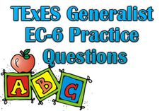 The TexES Generalist EC-6 measures the applicant's requisite skills and knowledge aligned with current state-required curriculum. This exam assesses whether or not the aspiring teacher is prepared to teach Early Childhood through 6th grade in Texas public schools. Questions on the exam are divided into five domains including (I) English Language Arts and Reading, (II) Mathematics, (III) Social Studies, (IV) Science, and (V) Fine Arts, Health, and Physical Education.