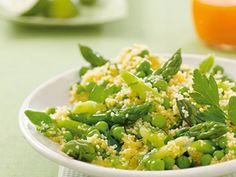 Grüner Couscous-Salat Rezept zum selbst machen - Alnatura Yummy Food, Tasty, Green Beans, Cucumber, Potato Salad, Main Dishes, Salads, Food And Drink, Low Carb