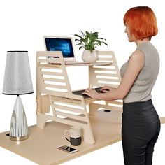 Multi-Position Workstations - The THUNDESK Height-Adjustable Standing Desk Features a Lap Desk (GALLERY)