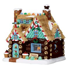 Lemax 75178 Yule Log Cabin- Lemax 75178 Yule Log Cabin This Swiss Chocolate Roll cabin sure brings a new… - Gingerbread House Designs, Gingerbread Village, Christmas Gingerbread House, Christmas Treats, Christmas Baking, Christmas Cookies, Christmas Time, Christmas Decorations, Xmas