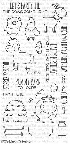 Hold your horses!! How CUTE is this new stamp set??