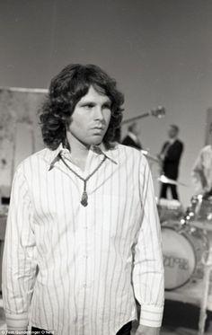 Jim Morrison of The Doors rehearsing 'Touch Me', 1968 - Photo © Tom Gundelfinger O'Neal | via dailymail.co.uk || #Photography #Photographer |