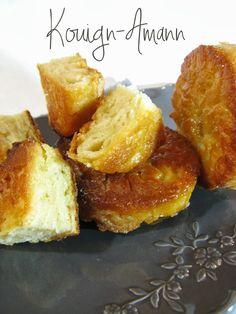 La recette du fameux Kouign-Amann breton. Une tuerie riche en calories ;)