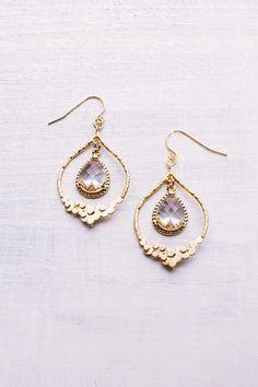 Elegante Ohrringe für die Braut. Zu kaufen bei Etsy.
