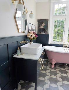 Ideal pink bathroom suite just on home design ideas site Shower Room, Bathroom Decor, Amazing Bathrooms, Bathrooms Remodel, Beautiful Bathrooms, House, Luxury Bathroom, Downstairs Bathroom, Bathroom Design
