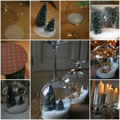 Creative Ideas - DIY Goblet Snow Globes | iCreativeIdeas.com Follow Us on Facebook --> https://www.facebook.com/iCreativeIdeas