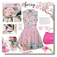 """""""#springdress"""" by hellodollface ❤ liked on Polyvore featuring Supersweet, Dolce&Gabbana, Gianvito Rossi, Isabel Marant and springdress"""