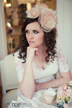 Wedding Dress: Melissa Blackburn  Flowers: Studio Stems  Hair and Makeup: Enizio  Photography: OpieFoto    bridal bride vintage soft romantic
