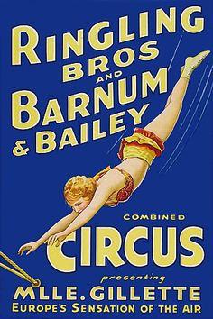 Mlle. Gillette. 'Europe's Sensation of the Air'. 1930s  http://www.vintagevenus.com.au/vintage/reprints/info/C372.htm