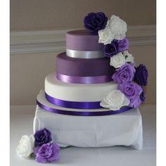 Shades Of Purple Wedding Cake