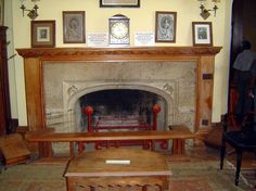 beautiful mantle - nothing like wood to warm up a room and give it depth