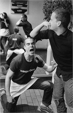 Henry Rollins in his hagen daasz shirt Bahaha