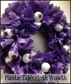 tablecloth wreath Halloween                                                                                                                                                     More