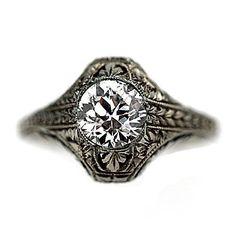 Art Deco engraved two caret diamond beauty