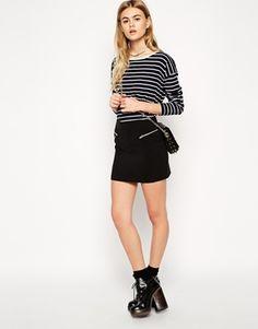ASOS Mini Skirt with Zip Detail