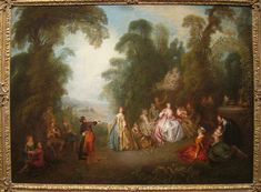 The Dance by Jean-Baptiste Pater (1695-1736) - IMG 7239 - Liste de peintures de Jean-Baptiste Pater — Wikipédia French Rococo, Jean Baptiste, Painting, Triptych, Fine Art Paintings, Painting Art, Paintings, Painted Canvas