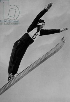 Birger Ruud, Norwegian Ski Jumper, 1936 Olympic Winter Games, Garmisch-Partenkirchen, Germany