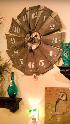 Windmill Clock, Windmill Decor, Windmill Blades, Country Decor, Rustic Decor, Farmhouse Decor, Western Kitchen Decor, Kitchen Rustic, Farmhouse Ideas