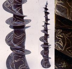 Agnès Debizet - Sculptures céramique terre grès faïence installation in situ luminaire collages d'images récupérées - ceramic sculptures, collages with pictures from recovered magazines and posters